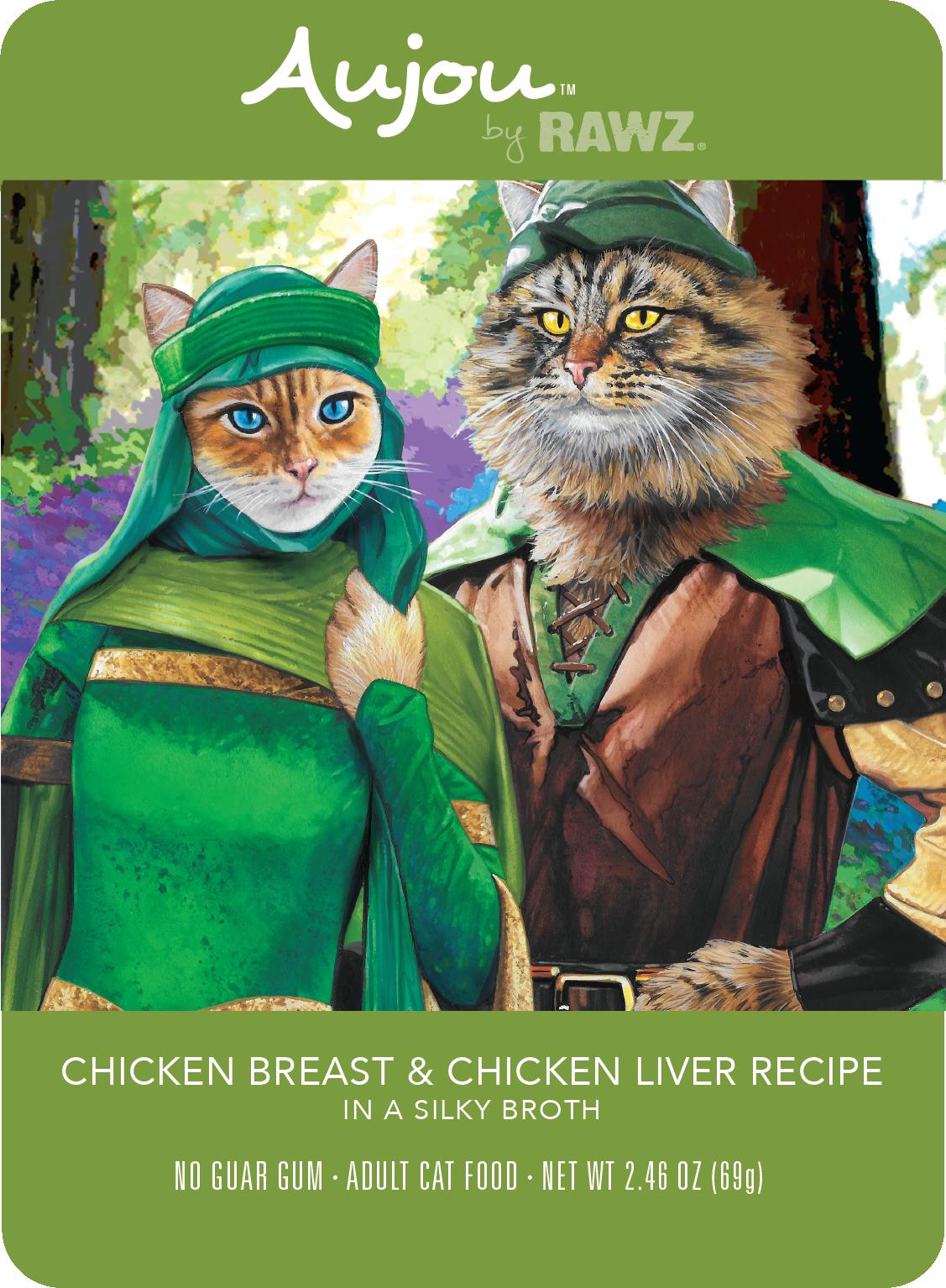 Rawz Aujou Chicken Breast & Chicken Liver,  69g