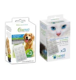 H2O Filtres pour Fontaine Cat H2O et Dog H2O