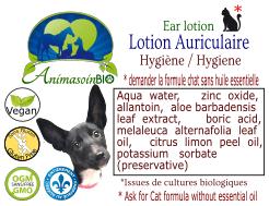 Animasoin Bio Lotion Auriculaire Liquide pour chat, 125 ml