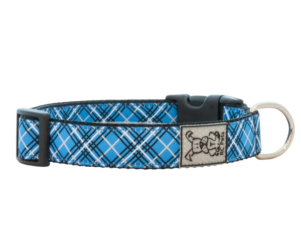 RC Pets Collier clip, Tartan Bleu