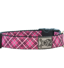 RC Pets Collier clip, Tartan rose