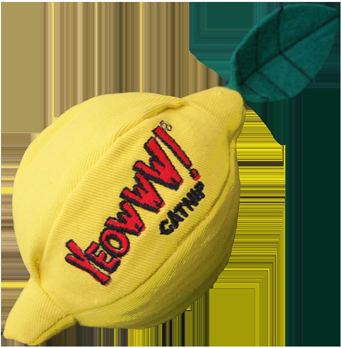 Ducky World Jouet d'herbe à chat Yeowww, Citron