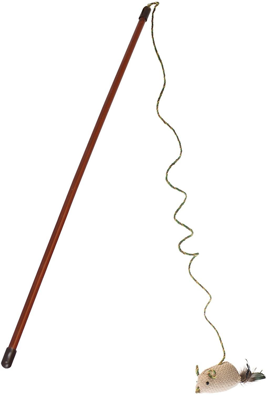 Ourpets Bagutte de jeu Play-N-Squeak Teaser Wand Flick-n-Stick