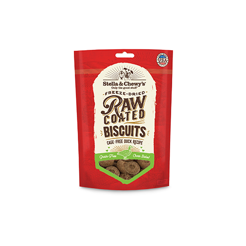 Stella & Chewy`s Biscuits Raw Coated, Canard