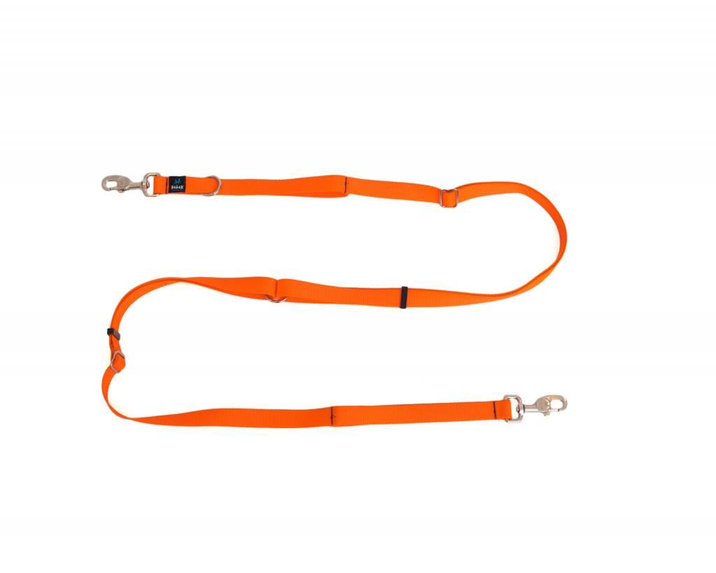 Nahak Laisse ajustable multifonctionnelle, Orange Fluo