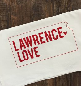 Inkello + Smiling Mad Lawrence Love Cotton Tea Towel