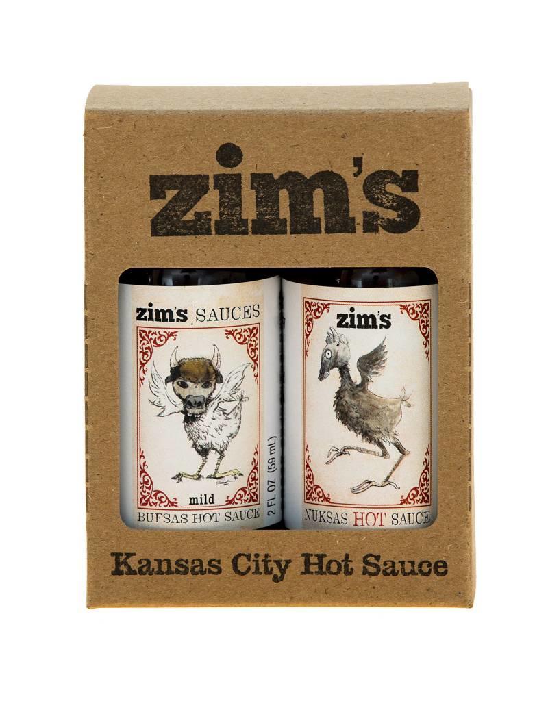 Zim's Sauces Bufsas/Nuksas Hot Sauce Gift Pack