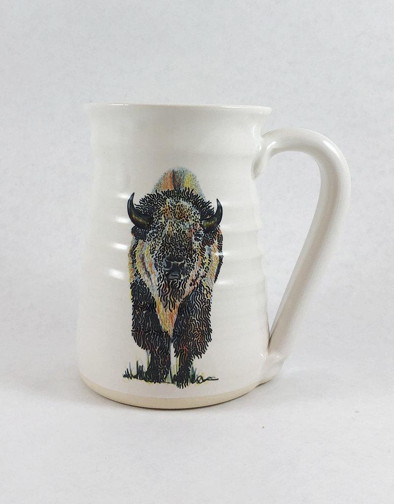 Isaac Shue Bison Mug by Isaac Shue