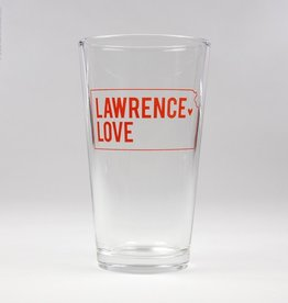 Inkello + Smiling Mad Lawrence Love Pint Glass