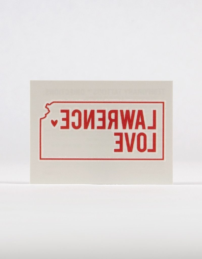 Inkello + Smiling Mad Lawrence Love Temporary Tattoo