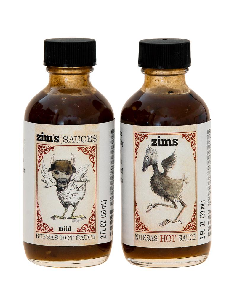 Zim's Sauces Zim's Bufsas & Nuksas Hot Sauce Gift Pack