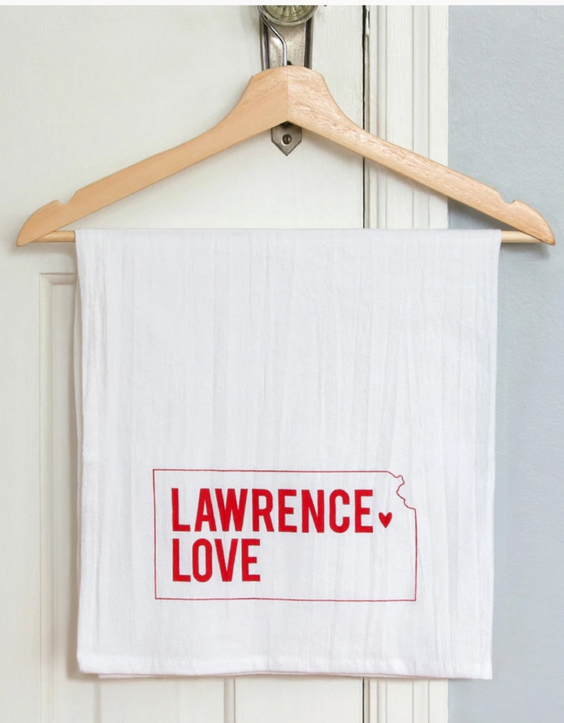 Inkello + Smiling Mad Lawrence Love Tea Towel