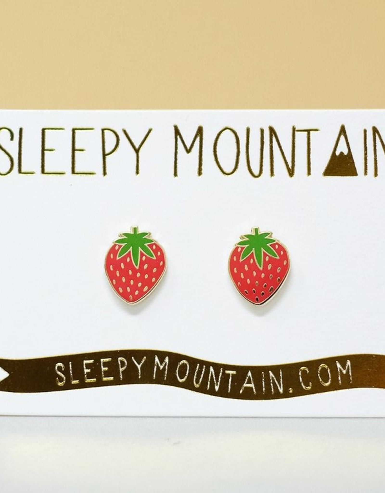 Sleepy Mountain Assorted Gold Plated Stud Earrings by Sleepy Mountain // 1