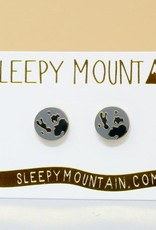 Sleepy Mountain Gold Plated Stud Earrings by Sleepy Mountain