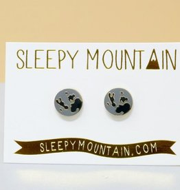 Sleepy Mountain Assorted Gold Plated Stud Earrings by Sleepy Mountain // 1