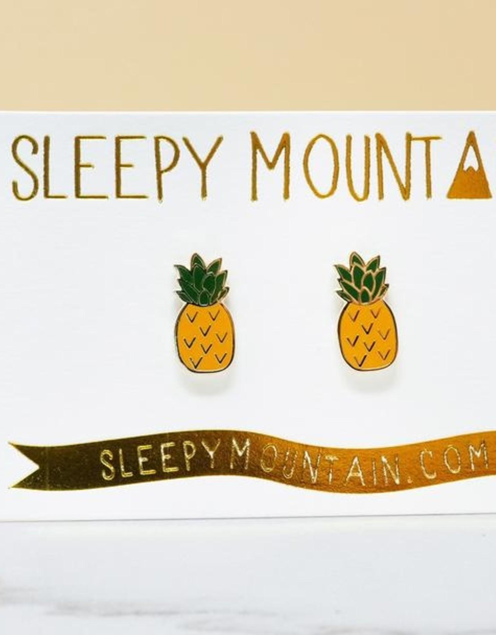 Sleepy Mountain Gold Plated Stud Earrings by Sleepy Mountain