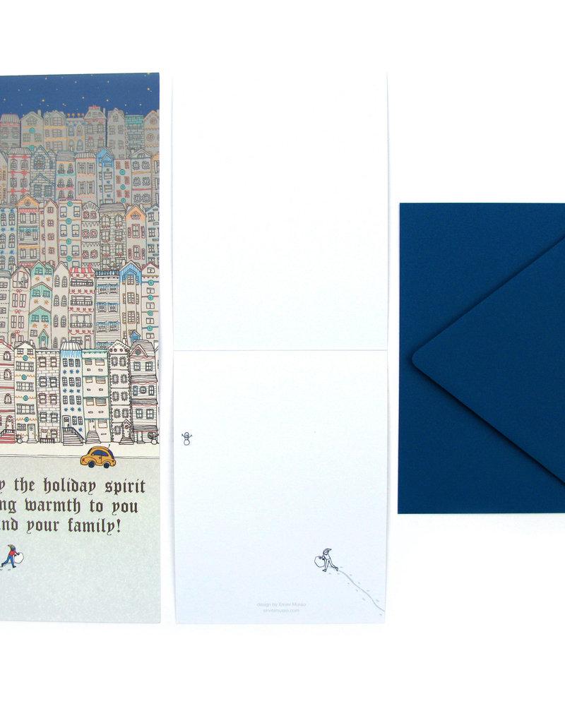 Emmi Murao Holiday Lights Card by Emmi Murao