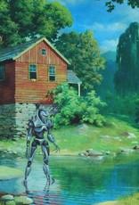 Jason Jones Art Altered Thrift Store Art Postcards by Jason Jones Art