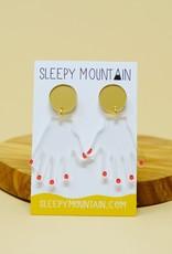 Sleepy Mountain Acrylic Dangle Earrings by Sleepy Mountain