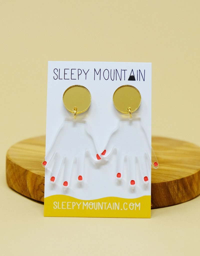 Sleepy Mountain Acrylic Dangle Earrings by Sleepy Mountain