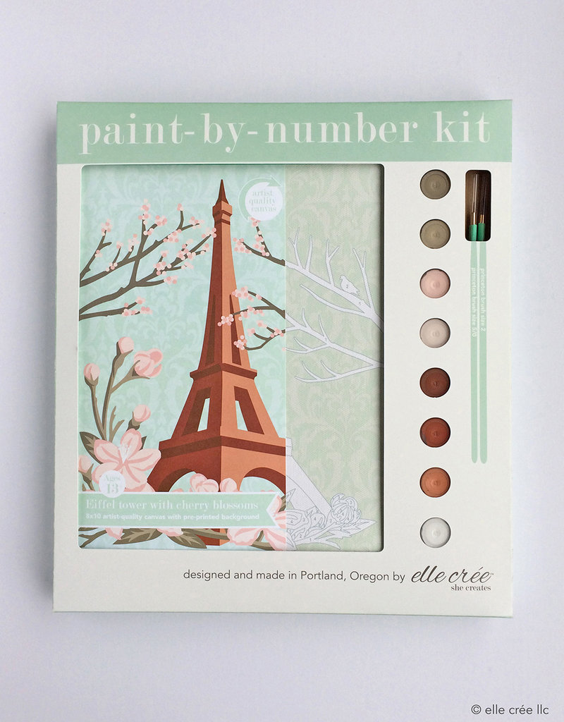 Elle Cree Paint by Number Kits by Elle Cree