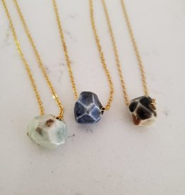 Crown & Heart Faceted Bead Necklace by Crown & Heart