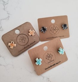 Crown & Heart X Studs by Crown & Heart