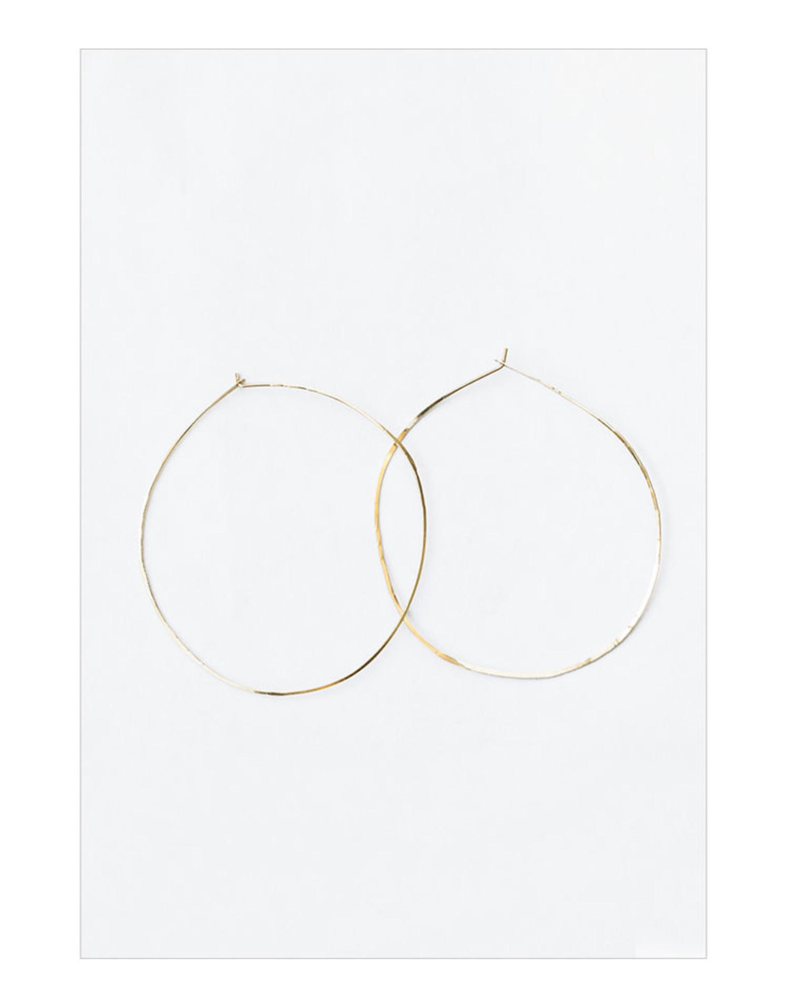 sara forrest design Gold Filled Hammered Hoops by Sara Forrest Design