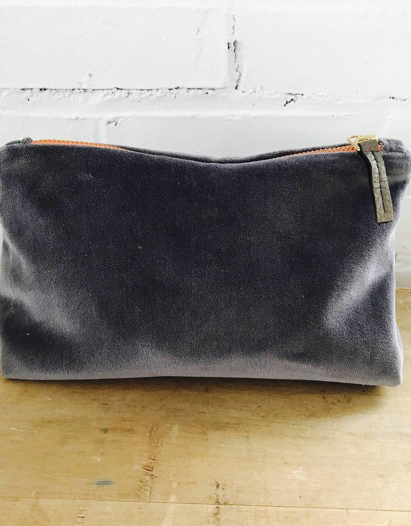 Erin Flett Velvet Zipper Bag by Erin Flett