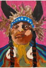Travis Mammedaty Buffalo Medicine Doctor // Original Painting by Travis Mammedaty