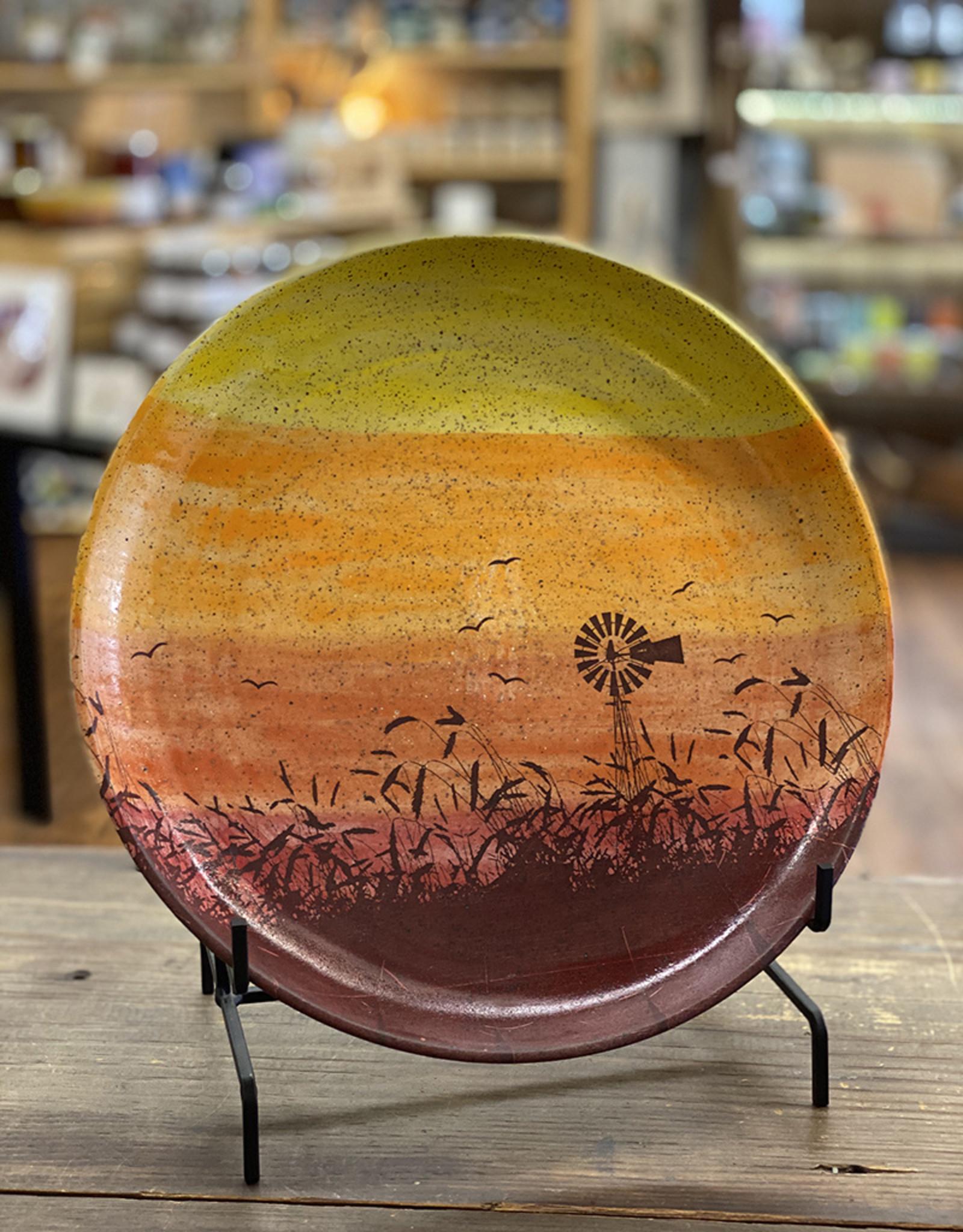 Melanie Harvey Pottery Prairidise Large Platter by Melanie Harvey