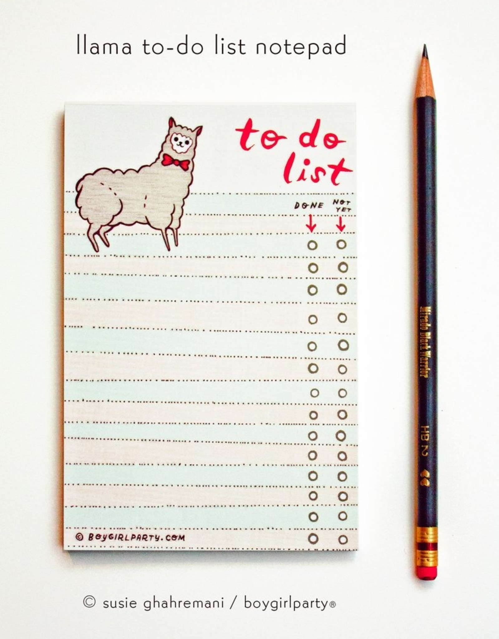 boygirlparty To Do Lists by Boygirlparty