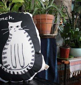 Yonder Studios Meh Cat Pillow by Yonder Studios