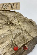kizmet jewelry Vintage Japanese Beads Drop Earrings by Kizmet Jewelry