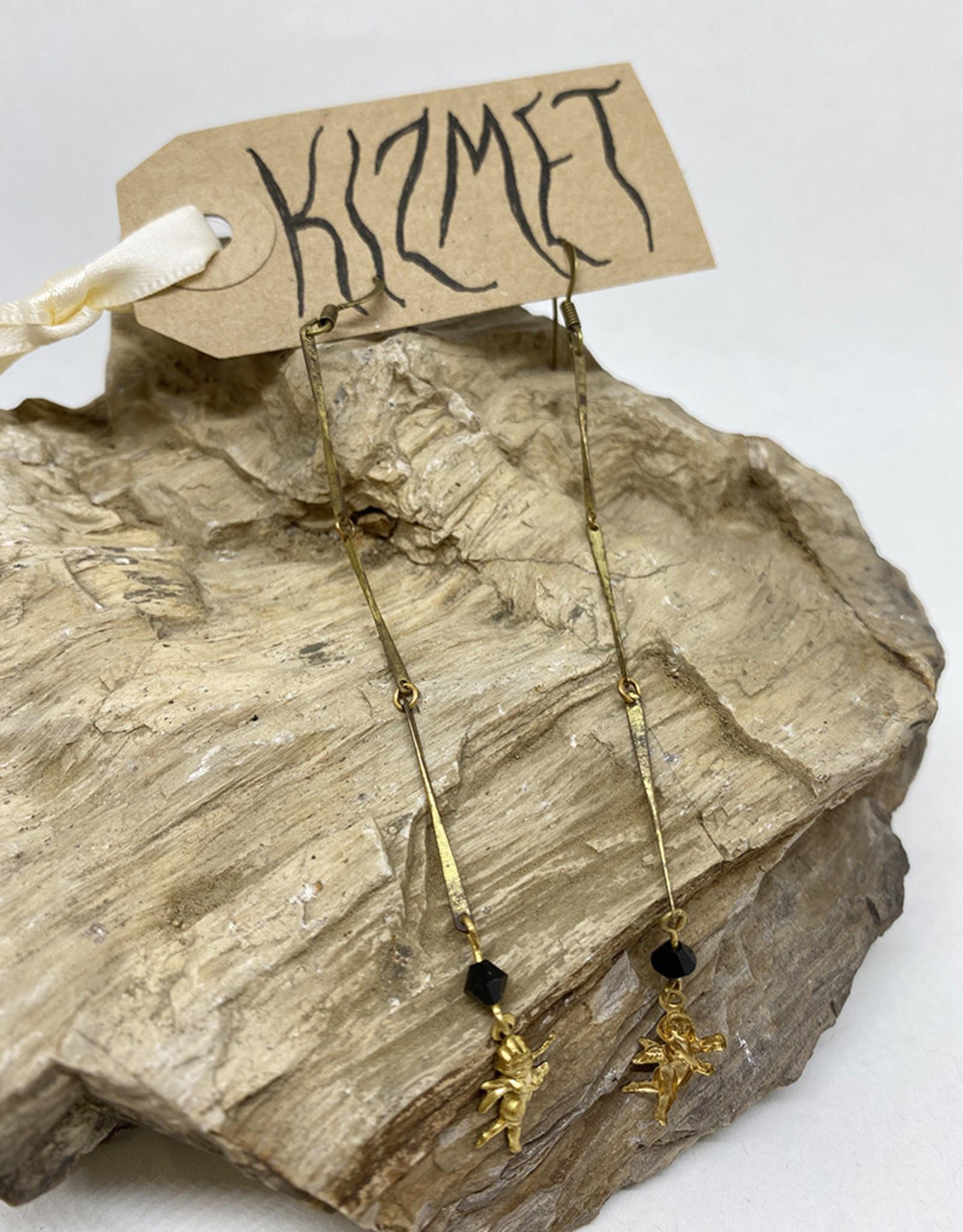 kizmet jewelry Baby Cupid + Swarovski Earrings by Kizmet Jewelry