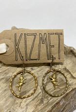 kizmet jewelry Baby Cupids in Twisted Brass Hoops Earrings by Kizmet JewelryBraided Hoops Earrings by Kizmet Jewelry