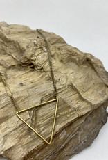 kizmet jewelry Brass Triangle Necklace by Kizmet Jewelry