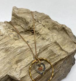 kizmet jewelry Butterfly in Twisted Hoop Necklace by Kizmet Jewelry