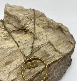 kizmet jewelry Kansas + Twisted Circle Necklace by Kizmet Jewelry