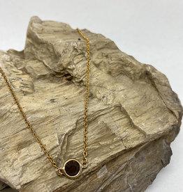 kizmet jewelry Brown Moss Colored Jewel Necklace by Kizmet Jewelry