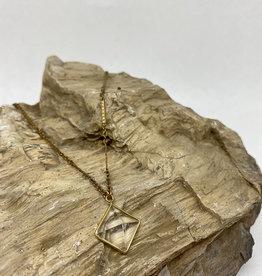 kizmet jewelry Square Crystal Necklace by Kizmet Jewelry