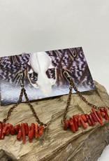 Perilin Jewelry Coral & Copper Earrings by Perilin Jewelry