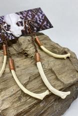 Perilin Jewelry Double Fox Rib Earrings by Perilin Jewelry