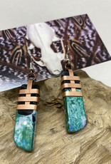 Perilin Jewelry Green Agate Earrings by Perilin Jewelry