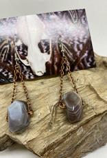 Perilin Jewelry Lace Agate Earrings by Perilin Jewelry