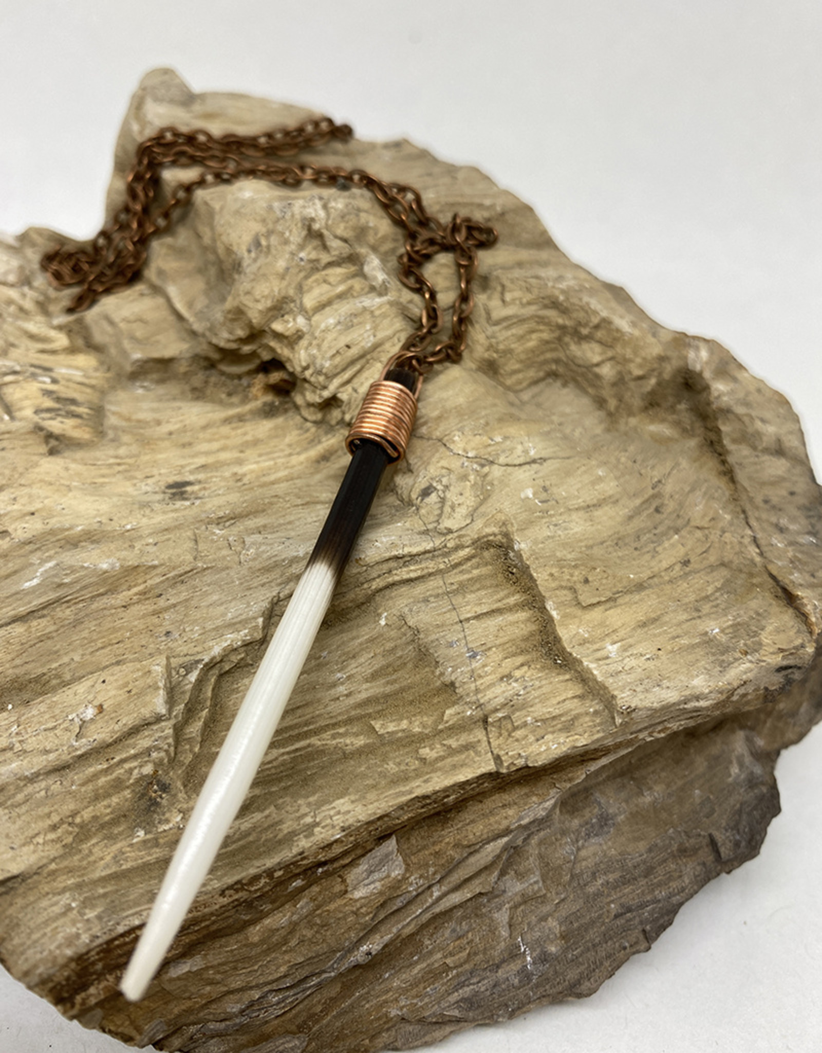 Perilin Jewelry Quill Necklace by Perilin Jewelry