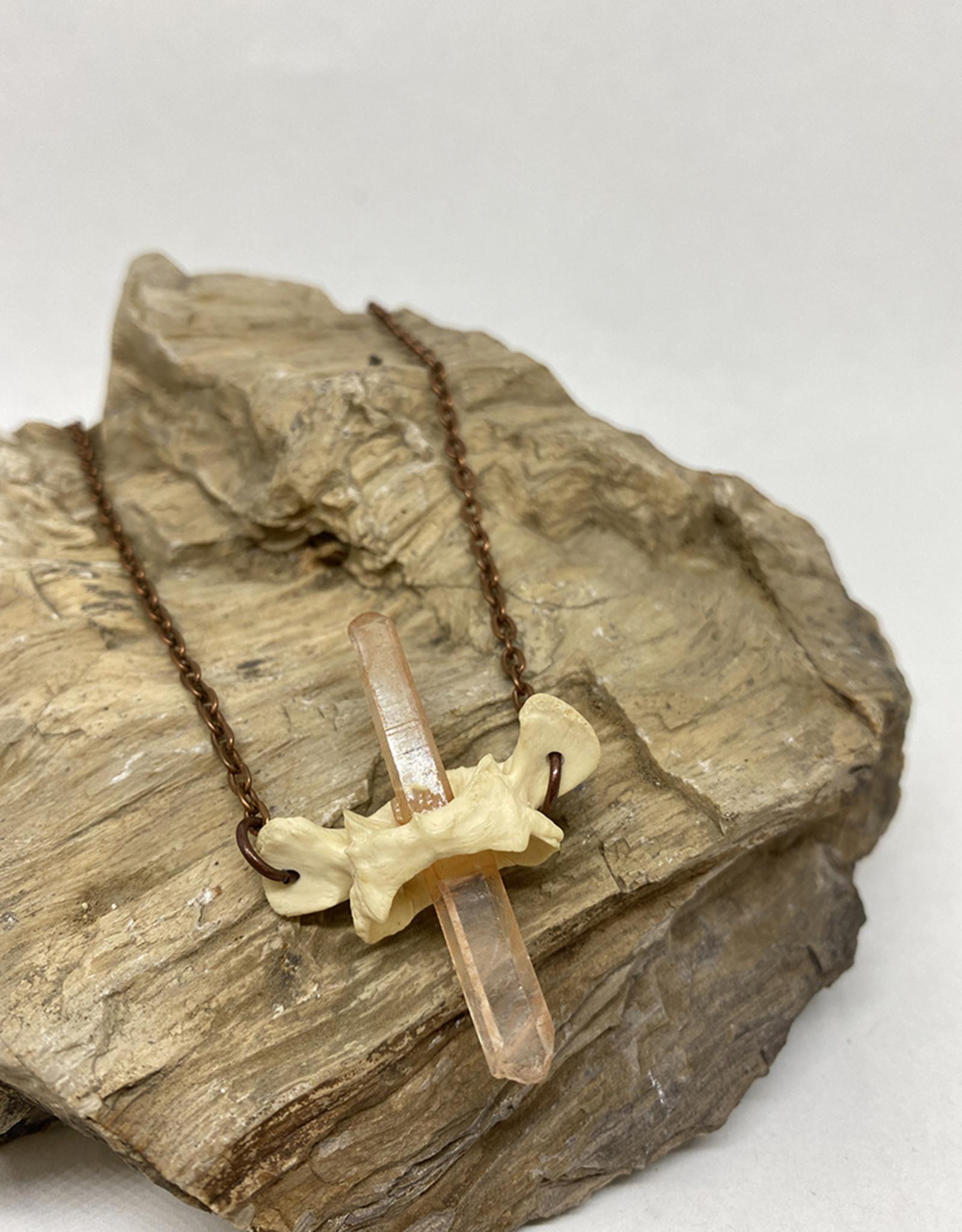 Perilin Jewelry Sacrum & Quartz Necklace by Perilin Jewelry