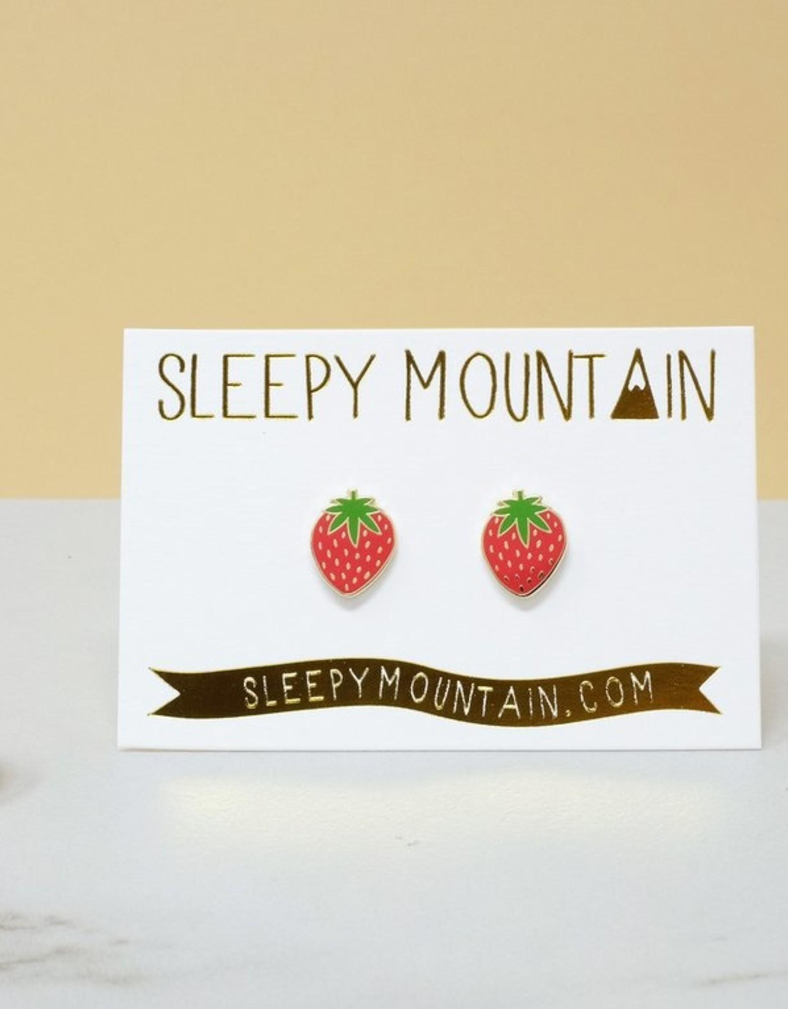 Sleepy Mountain More Gold Plated Earrings by Sleepy Mountain