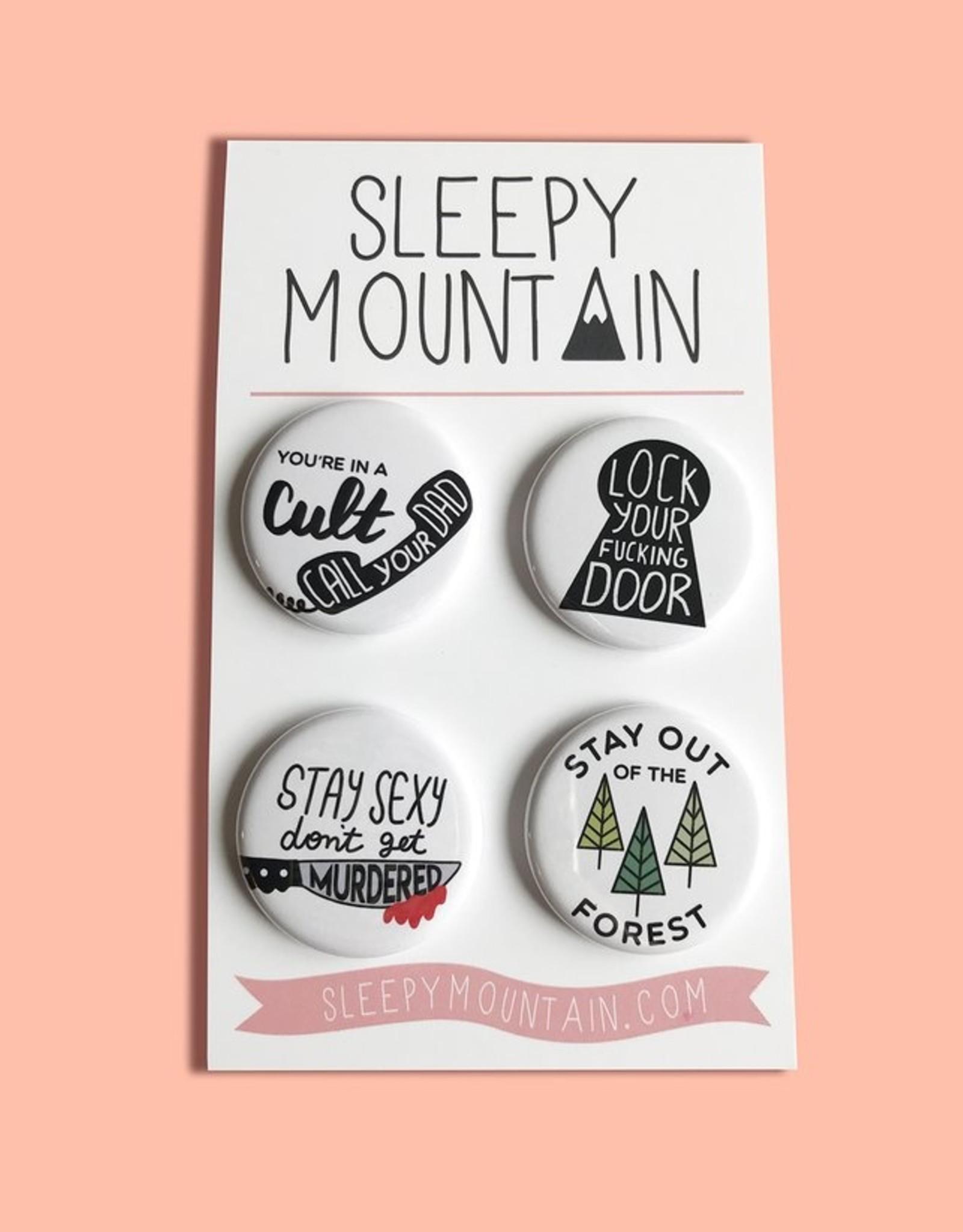 Sleepy Mountain Set of 4 Buttons by Sleepy Mountain