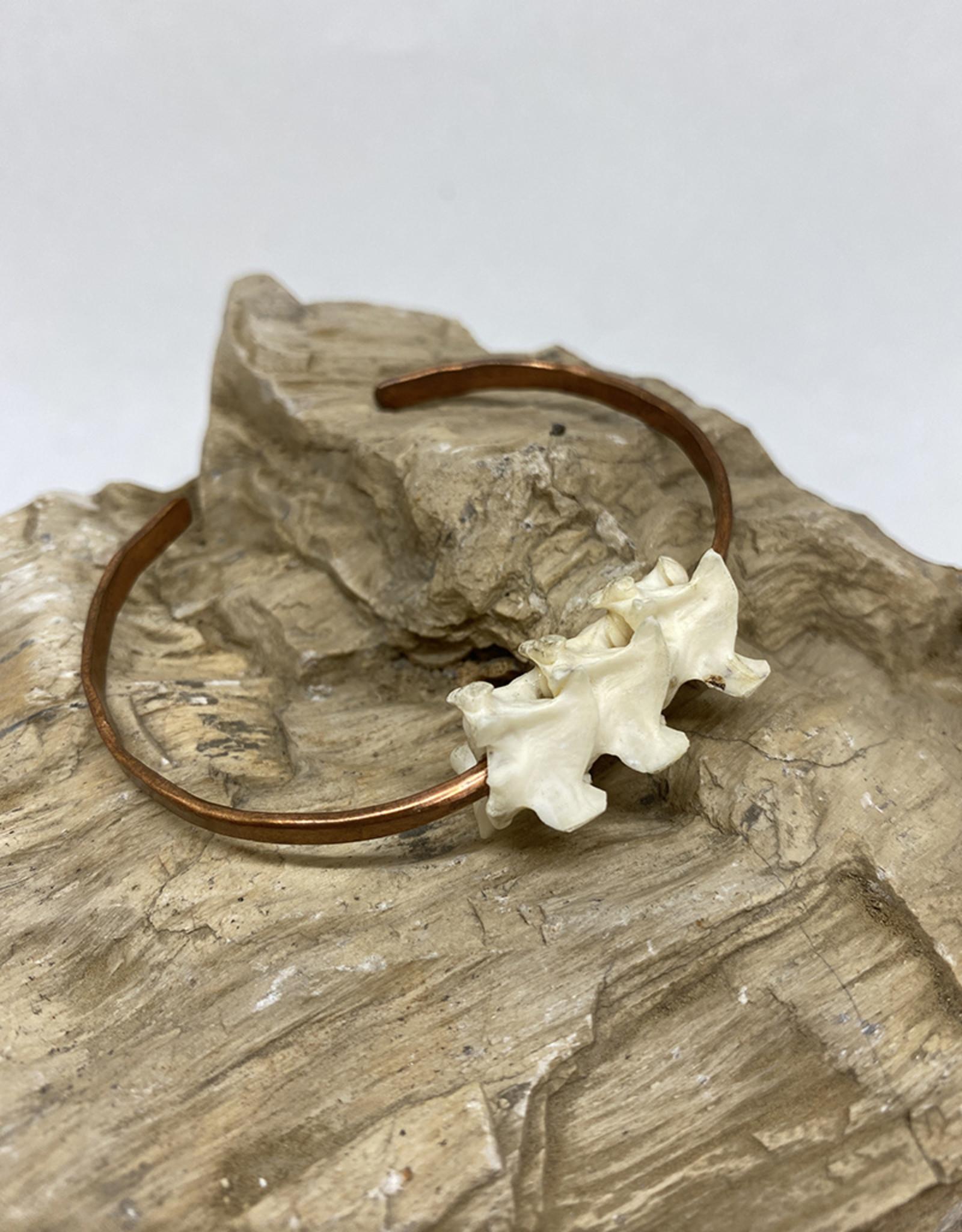 Perilin Jewelry Vertebrae Cuff Bracelet by Perilin Jewelry